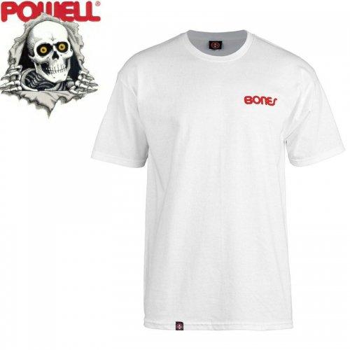 【パウエル POWELL スケボー Tシャツ】SWISS TEXT TEE【ホワイト】NO81