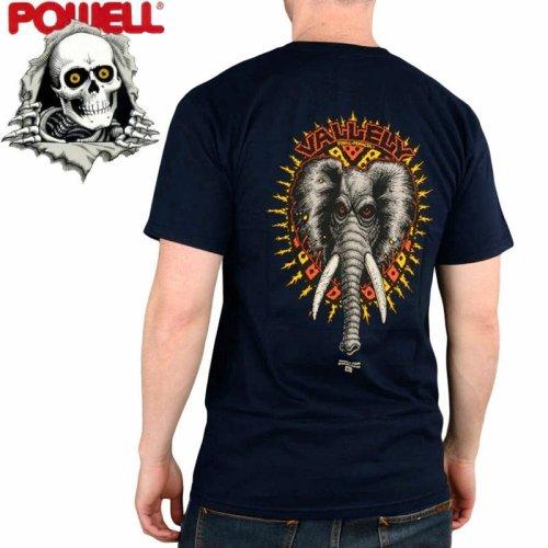 【パウエル POWELL スケボー Tシャツ】ELEPHANT TEE【ネイビー】NO82