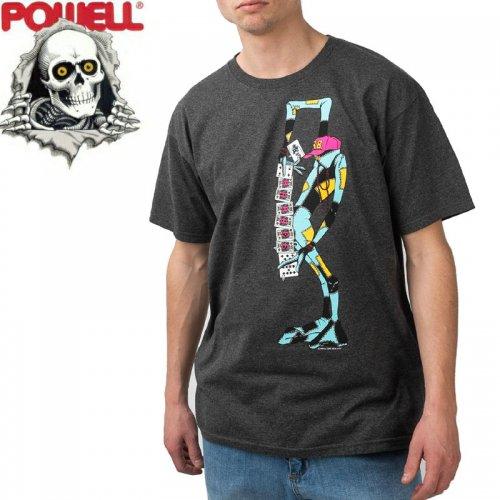 【パウエル POWELL スケボー Tシャツ】RAY BARBEE RAG DOLL TEE【チャコールヘザー×ピンク】NO85
