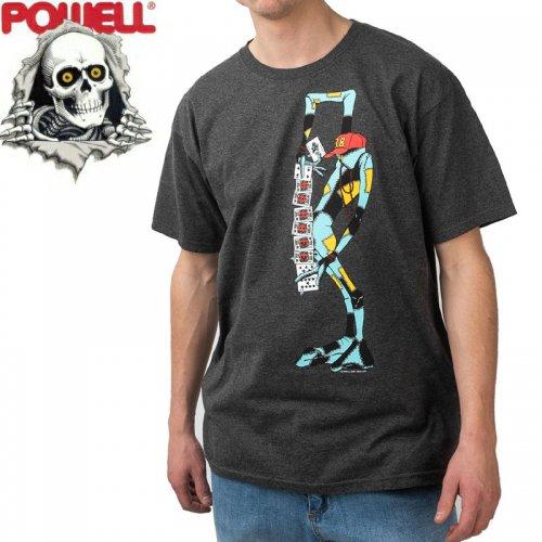 【パウエル POWELL スケボー Tシャツ】RAY BARBEE RAG DOLL TEE【チャコールヘザー×レッド】NO86