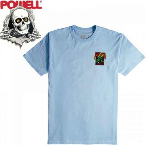 【パウエル POWELL スケボー Tシャツ】CABALLERO STREET DRAGON TEE【パウダーブルー】NO87