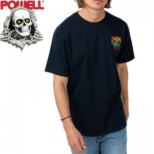 【パウエル POWELL スケボー Tシャツ】CABALLERO STREET DRAGON TEE【ネイビー】NO88