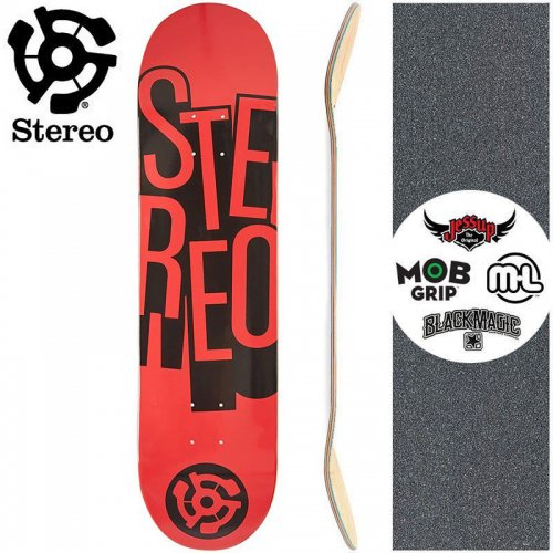 【STEREO ステレオ スケボー デッキ】STACKED RED DECK[7.7インチ]NO74