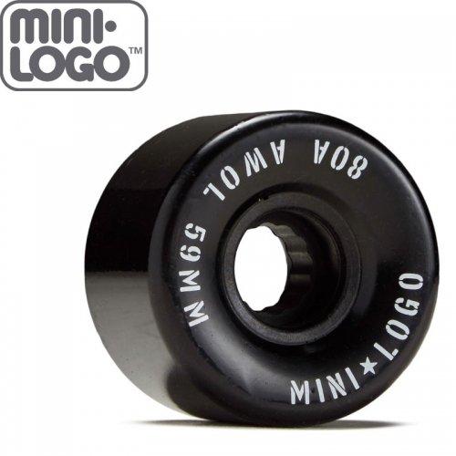 【MINI LOGO ミニロゴ スケボー クルーザー ウィール】AWOL WHEELS 80A ブラック【59mm】NO90