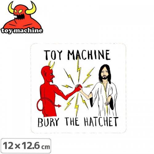 【トイマシーン TOY MACHINE スケボー ステッカー】BURY THE HATCHET STICKER 12.6cm x 12cm NO39
