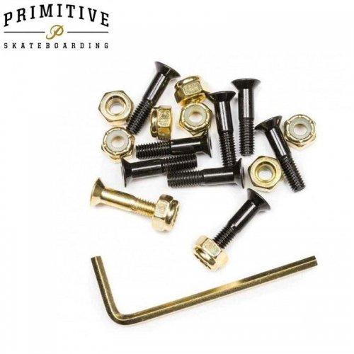 【プリミティブ PRIMITIVE スケボー ハードウェア】BLACK/GOLD HARDWARE 9PK ALLEN 六角【7/8インチ】NO1