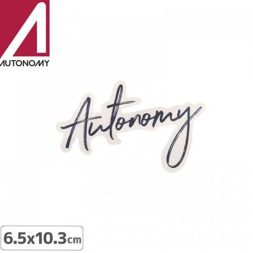 【オートノミー AUTONOMY スケボー ステッカー】AUTONOMY LOGO STICKER 6.5cm x 10.3cm NO1