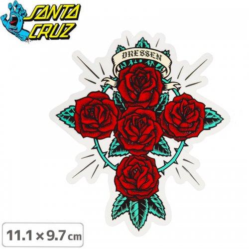 【サンタクルーズ SANTACRUZ スケボー ステッカー】DRESSEN ROSE KIT STICKER【11.1cmx9.7cm】NO99