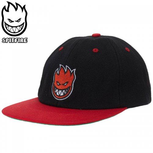 【スピットファイヤー SPITFIRE ベースボールキャップ】BIGHEAD FILL HAT ブラック×レッド NO81