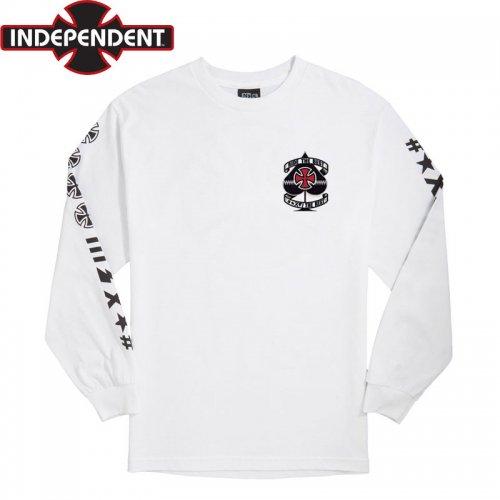 【インディペンデント ロングTシャツ】ANTE L/S TEE(胸プリントあり)【ホワイト】NO24