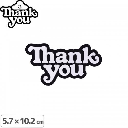 【THANK YOU サンキュー スケボー ステッカー】LOGO STICKER【5.7cmx12cm】NO2