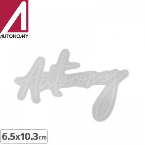 【オートノミー AUTONOMY スケボー ステッカー】AUTONOMY LOGO STICKER 6.5cm x 10.3cm NO8