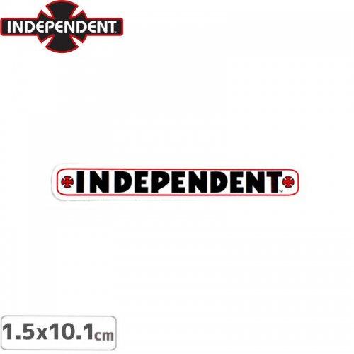 【インディペンデント INDEPENDENT スケボー ステッカー】BAR STICKER【1.5 x 10.1cm】NO123