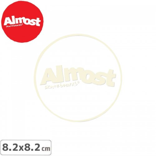 【ALMOST オルモスト ステッカー】WITE LINE STICKR【8.2cm x 8.2cm】NO116