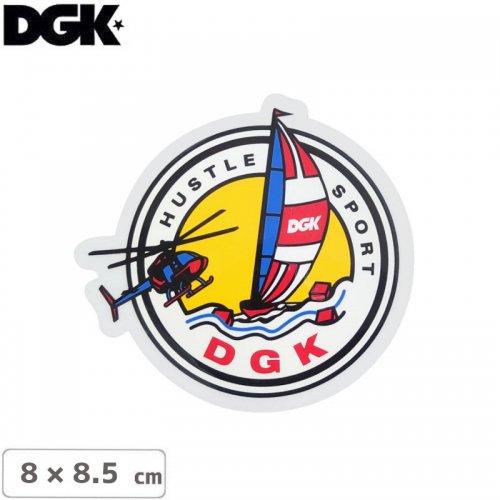 【ディージーケー DGK スケボー ステッカー】ESTABLISHED STICKER【8cm×8.5cm】NO96