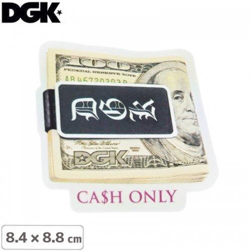 【ディージーケー DGK スケボー ステッカー】CASH ONLY STICKER【8.4cm×8.8cm】NO99