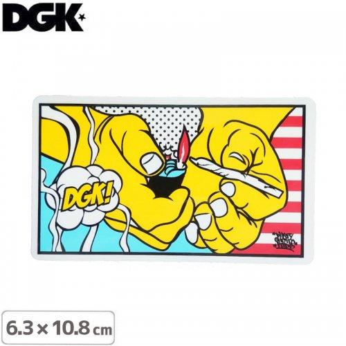 【ディージーケー DGK スケボー ステッカー】BLAZE STICKER【6.3cm×10.8cm】NO100