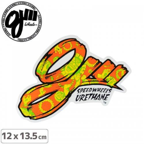 【スケボー ステッカー オージェイウィール 】RETRO FILL STICKER【12cmx13.5cm】オレンジ NO24