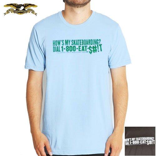 【ANTI HERO アンチヒーロー スケボー Tシャツ】HOWS IT SKY TEE【ライトブルー】【ブラウン】NO12