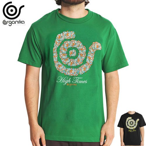 SALE! 【ORGANIKA オーガニカ スケボー Tシャツ】HIGH TIMES TEE【ブラック】【グリーン】NO45