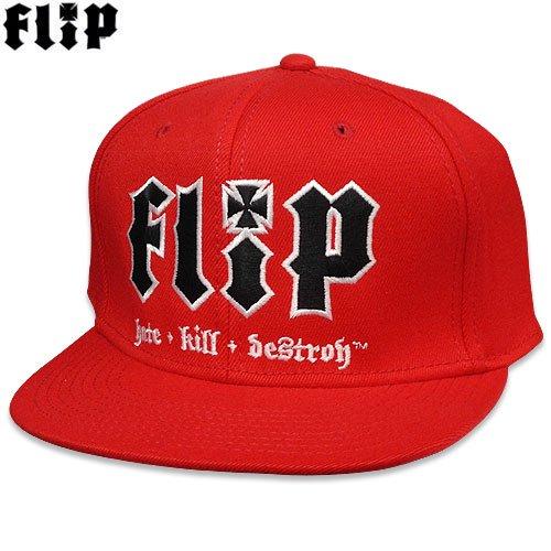 【フリップ FLIP スケボー キャップ】HKD FLEX FITTED STRETCH HAT【レッド】NO3