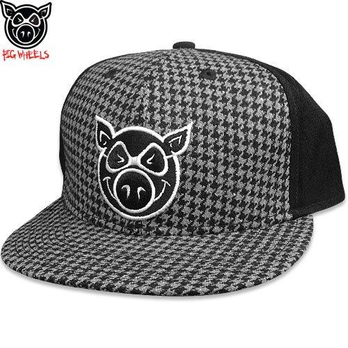 \1週間SALE/【ピッグ PIG WHEELS スケボー キャップ】PIG HEAD PRO FLAT FITTY CAP【千鳥格子】NO4