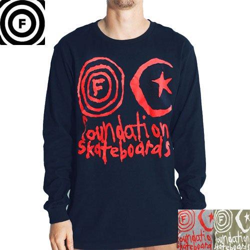 【ファンデーション FOUNDATION ロングTシャツ】FRANKEN L/S【カーキ】【グレー】【ネイビー】NO1