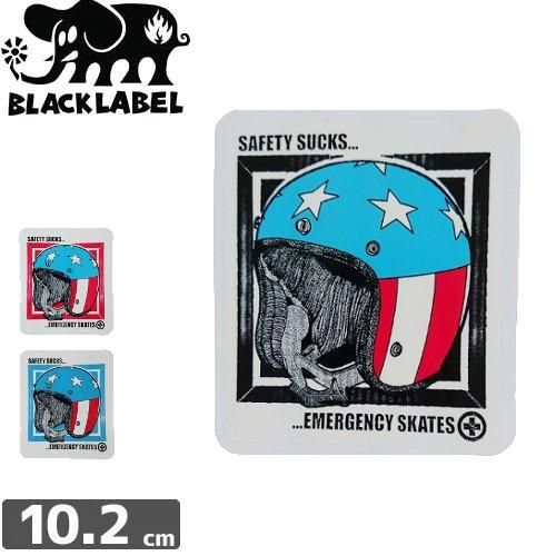 【ブラックレーベル ステッカー BLACK LABEL STICKER スケートボード】SAFETY SUCKS【3色】【10.2cm x 8.9cm】NO26