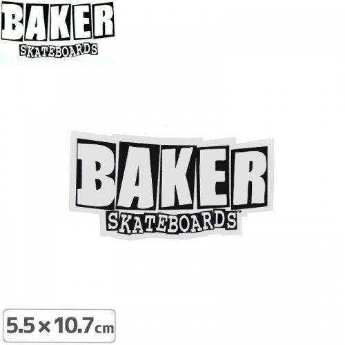 【ベーカー BAKER SKATEBOARD スケボー ステッカー】LOGO【5.5cm × 10.7cm】NO07