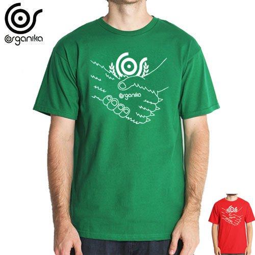 SALE! 【ORGANIKA オーガニカ スケボー Tシャツ】FRIENS TEE【グリーン】【レッド】NO56