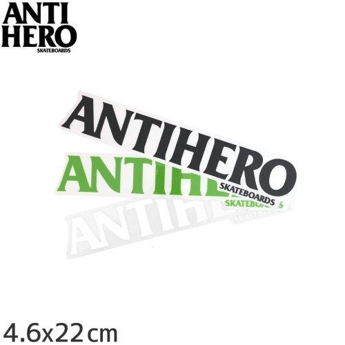 【アンチヒーロー ANTIHERO スケボー ステッカー】BLACK HERO【3色】【4.6cm x 22cm】NO8