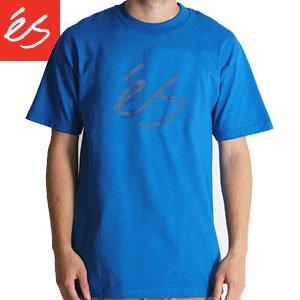 【エススケートボード ES FOOTWEAR スケボー Tシャツ】 Script Fill 3 ロイヤル NO14