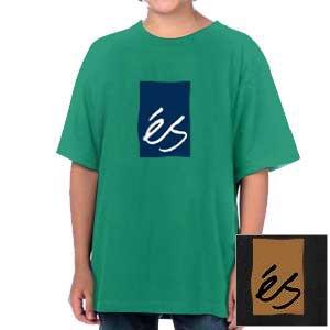 【エス ES FOOTWEAR キッズ Tシャツ】Mainblock 09 メインブロック【ケリーグリーン・ブラック】NO6