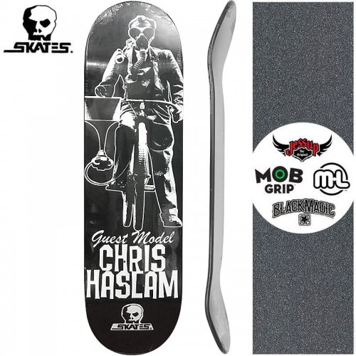 【スカルスケーツ SKULL SKATES スケボーデッキ】CHRIS HASLAM GUEST DECK[8.5インチ]NO7