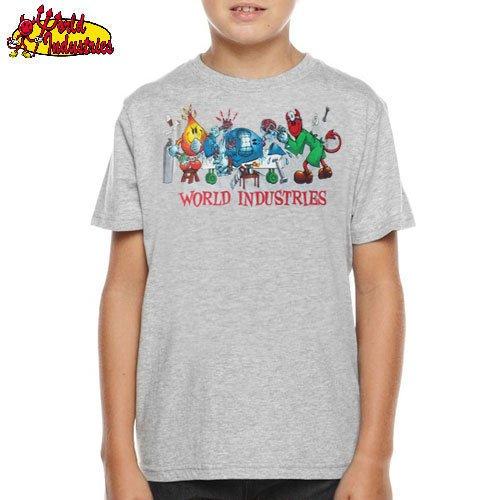 ビンテージ【WORLD INDUSTRIES キッズ Tシャツ】SLICE AND DICE YOUTH TEE【グレー】NO3