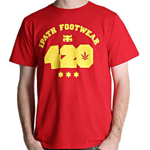 【アイパス I-PATH スケボー Tシャツ】World Cup 420【レッド】NO14