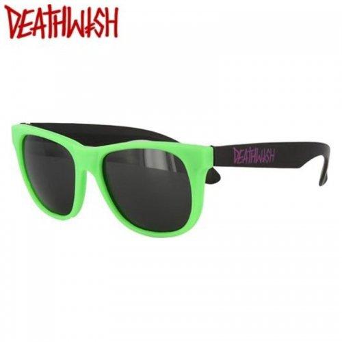 【デスウィッシュ DEATHWISH スケボー サングラス】Mandozas Green Purple【グリーン x ブラック】NO02