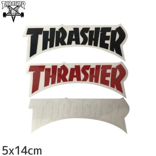 【スラッシャー THRASHER スケボー ステッカー】USA規格 DIE CUT LOGO【3色】【5cm x 14cm】NO14