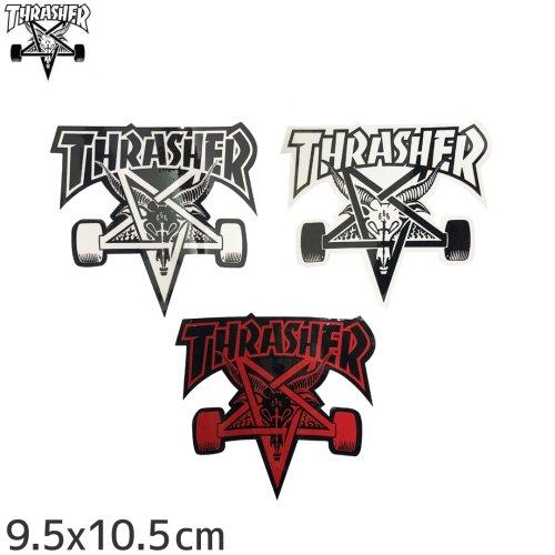 【スラッシャー THRASHER スケボー ステッカー】SK8 GOAT【3色】【9.5cm x 10cm】NO27