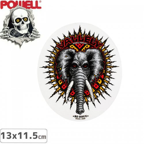 【パウエル POWELL スケボー ステッカー】MIKE VALLELY ELEPHANT STICKER【13.0cm x 11.5cm】NO4