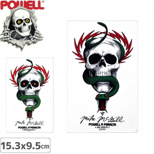 【パウエル POWELL スケボー ステッカー】BONES BRIGADE MIKE MCGILL STICKER【15.3cm x 9.5cm】【2タイプ】NO10