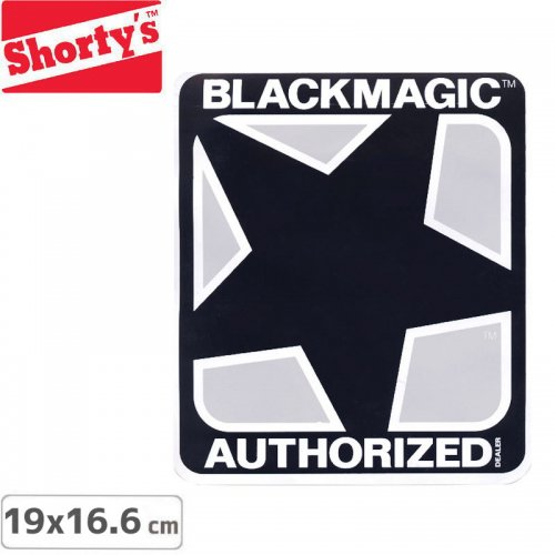 【ショーティーズ Shortys ステッカー】BLACK MAGIC AUTHORISED【19cm×16.6cm】NO3
