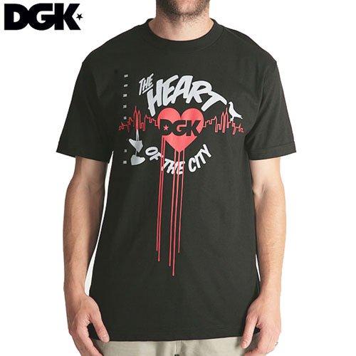 SALE! 【ディージーケー DGK スケボー Tシャツ】HEART OF THE CITY TEE【ブラック】【ホワイト】NO205