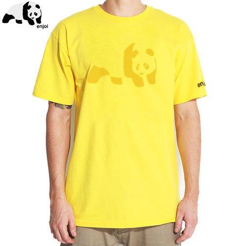 SALE! 【ENJOI エンジョイ スケートボード Tシャツ】PANDA TEE【イエロー】NO43