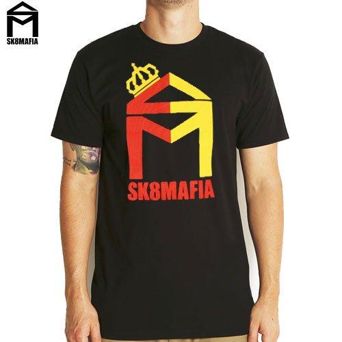 【スケートマフィア SK8MAFIA スケボー Tシャツ】SKATEMAFIA HOUSE ESPANA TEE【ブラック】NO12