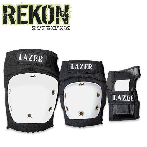 【REKON リーコン スケボー プロテクター】LAZER 3 IN 1 PAD SET【プロテクターセット】NO1