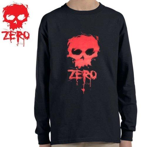 【ゼロ ZERO キッズ ロングTシャツ】Blood Skull Youth Long sleeve Tee【ブラック】NO1