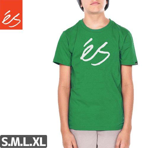 【エス ES FOOTWEAR キッズ Tシャツ】Script Solid YTH【ケリーグリーン】NO11
