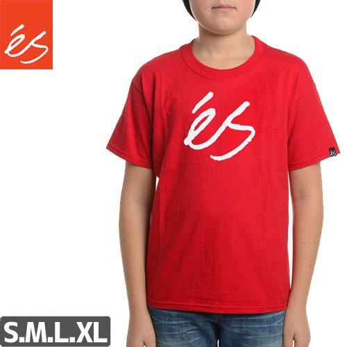 【エス ES FOOTWEAR キッズ Tシャツ】Script Solid YTH【レッド】NO12
