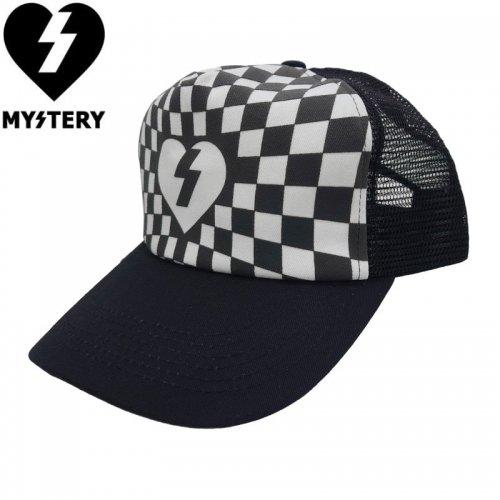 【ミステリー MYSTERY キャップ】Patch �Mesh Hat【ブラックxホワイト】NO11